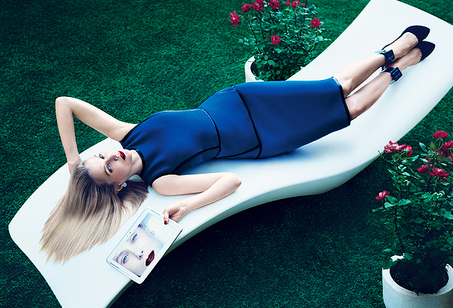 "A presidente-executiva do Yahoo!, Marissa Mayer, posou para a revista ""Vogue"""