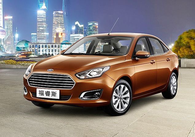 Ford Escort renasce na China como sed� m�dio