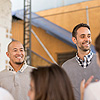 Os amigos Cláudio Sassaki (à esquerda) e Eduardo Bontempo criaram a Geekie, em 2011
