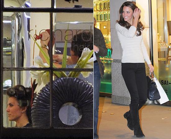 Kate durante e depois dos bobes