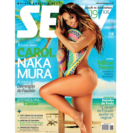Revista Sexy Carol Nakamura, Fotos, Download, Making off