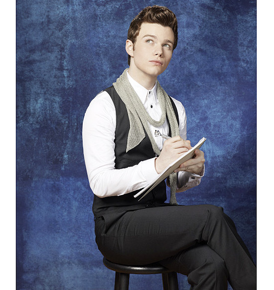 "O ator Chris Colfer na pele do personagem Kurt Hummel, do seriado musical ""Glee"""