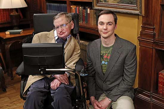 "Stephen Hawking e Jim Parsons gravam epis�dio de ""The Big Bang Theory"""