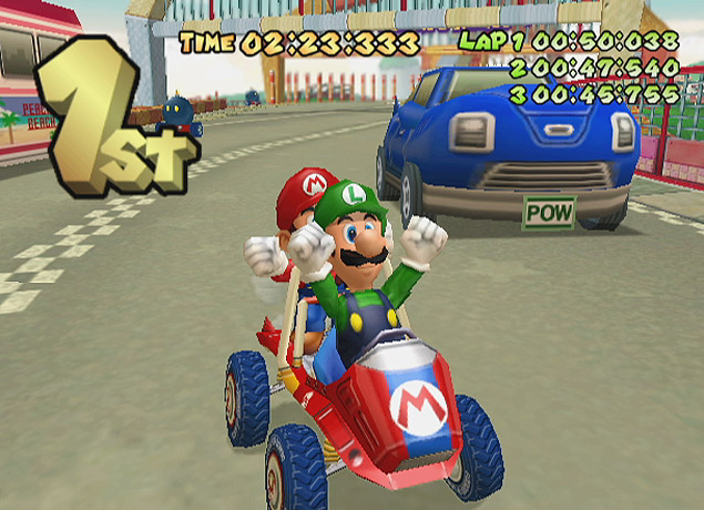"Cena do jogo ""Mario Kart: Double Dash!!"", do GambeCube"
