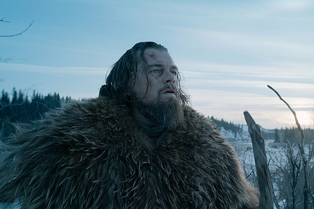 "This photo provided by courtesy of Twentieth Century Fox shows, Leonardo DiCaprio as Hugh Glass, in a scene from the film, ""The Revenant,"" directed by Alejandro Gonzalez Inarritu. (Courtesy Twentieth Century Fox via AP) ORG XMIT: CAET284 - arteoscar2016"