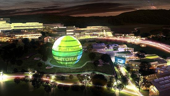 Ilustração mostra como será a eco-cidade de Portugal, chamada de PlanIT Valley, em Parede, no distrito de Porto