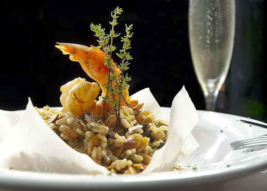 Risoto crocante do bar The Orleans