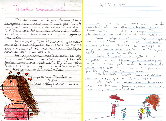 Cartas de Giovanna Mantovani e Fernanda Silva
