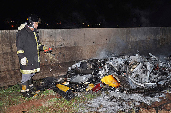Sao Paulo Lamborghini Gallardo burns to ashes