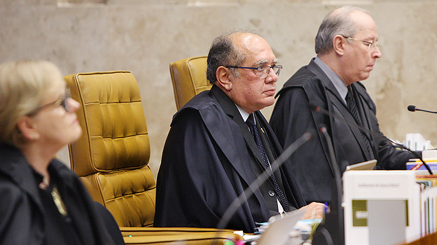 Ministros do STF (Supremo Tribunal Federal) durante julgamento da descriminalização do porte de drogas