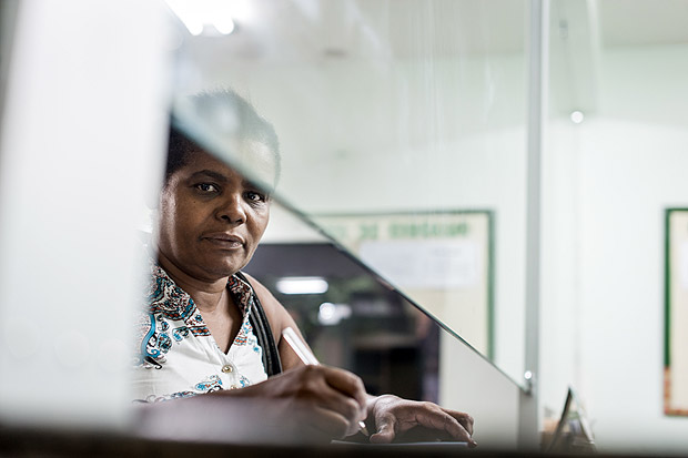 Emídia Xavier de Silva, 56, a housekeeper, who was sick for two months