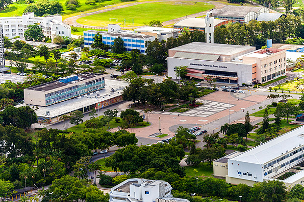 Vista aérea da UFSC (Universidade Federal de Santa Catarina)