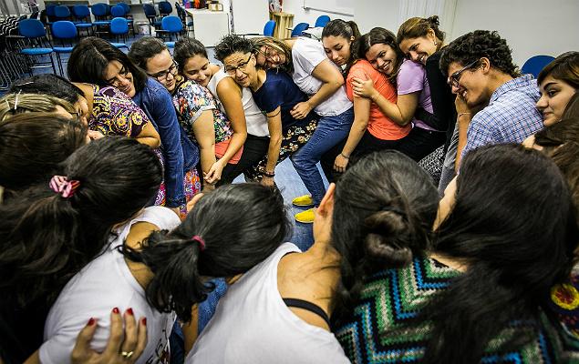 Estudantes do curso de graduação em pedagogia do Instituto Singularidades participam de atividade em SP