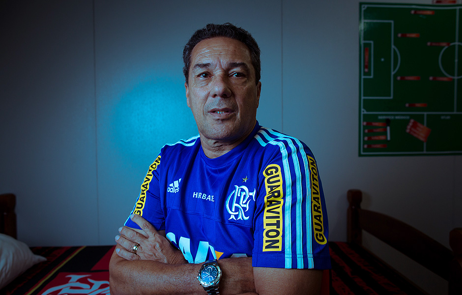 Vanderlei Luxemburgo durante intertemporada do Flamengo neste ano