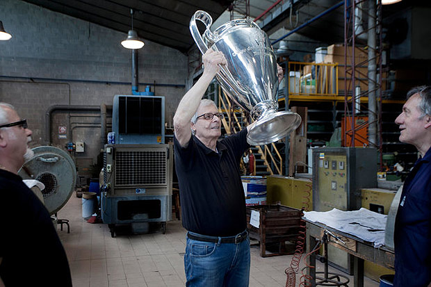 "Guerrino Giorgi typically oversees the making of the trophy. He said that it could take more than two weeks to make the handles. ""It is the hardest part,"" he said"