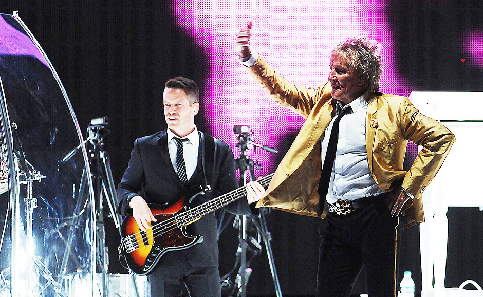 Show do cantor Rod Stewart na Allianz Parque