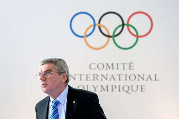O presidente do COI, Thomas Bach