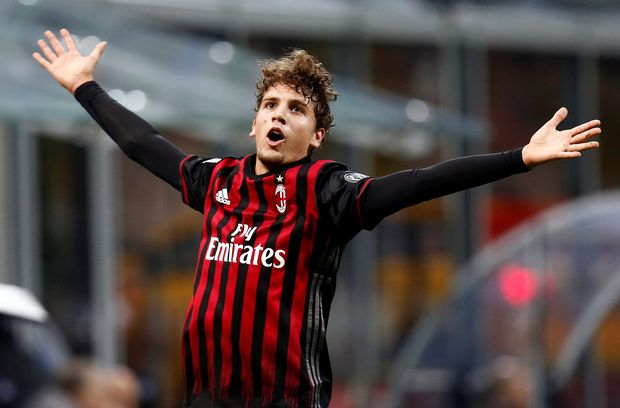 AC Milan v Juventus - San Siro stadium, Milan Italy- 22/10/16 - AC Milan's Manuel Locatelli celebrates after scoring