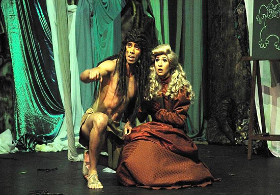 "Cena do musical ""Tarzan"""
