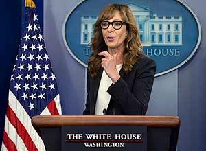 Allison Janney na Casa Branca – Carolyn Kaster/Associated Press