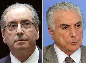 Cunha e Temer – Eraldo Peres/Associated Press
