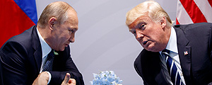 Putin, presidente da Rússia, e Donald Trump – Evan Vucci/Associated Press