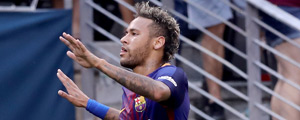 Neymar com a camisa do Barcelona – Elsa/Getty Images/AFP
