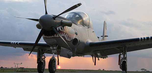 Brazilian-made Super Tucano military aircraft