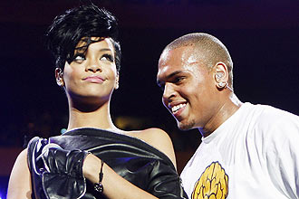 Rihanna e o namorado, o cantor Chris Brown