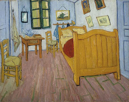 "Quadro ""The Bedroom"", de Van Gogh"