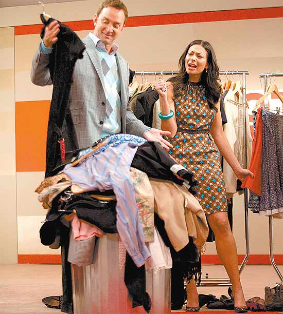 "Os consultores de moda Clinton Kelly e Stacy London, do ""Esquadrão da Moda"""