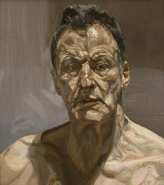 Auto-retrato do artista Lucian Freud, obra de 1985 que está exposta na National Portrait Gallery, em Londres