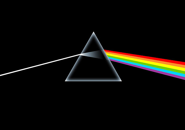 "A célebre capa de ""Dark Side of the Moon"" (1973), disco do Pink Floyd"