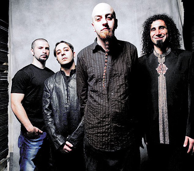 A banda americana de metal System of a Down, que tocará no Rock in Rio 2015