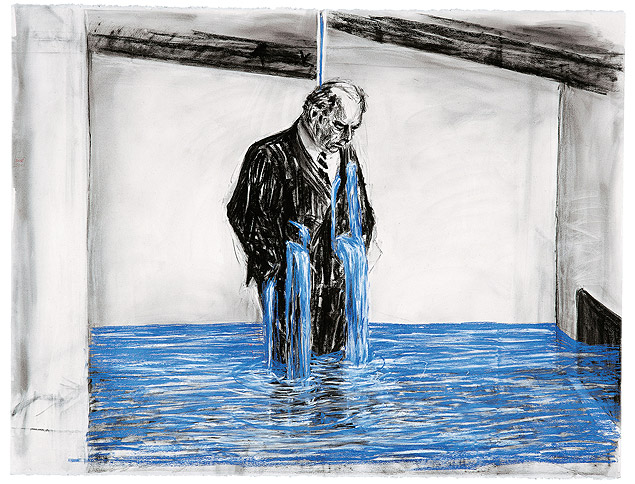 Desenho para o filme 'Stereoscope', de William Kentridge