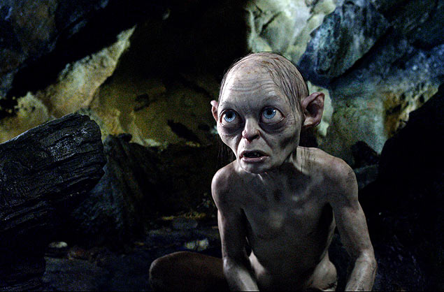 "FILE - This publicity file photo released by Warner Bros., shows the character Gollum voiced by Andy Serkis in a scene from the fantasy adventure ""The Hobbit: An Unexpected Journey."" (AP Photo/Warner Bros., File) ORG XMIT: NY119"