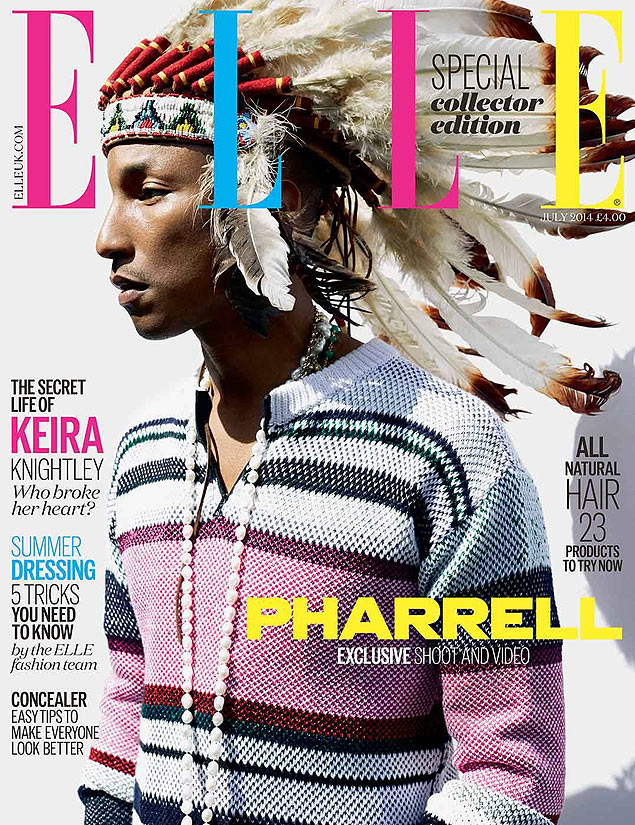 Pharrell Williams na capa da revista 'Elle