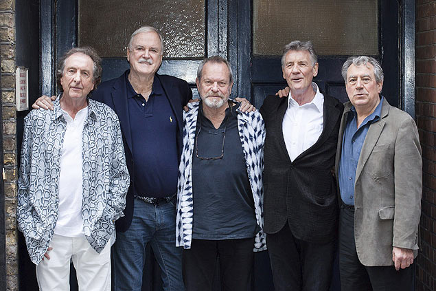 Da esq. para a dir., Eric Idle, John Cleese, Terry Gilliam, Michael Palin e Terry Jones, do Monty Python