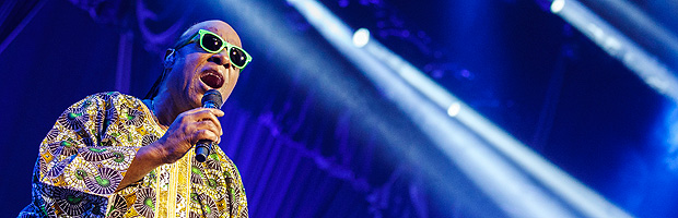 In this picture made available Thursday, July 17, 2014, US musician Stevie Wonder performs on the stage of the Auditorium Stravinski at the 48th Montreux Jazz Festival, in Montreux, Switzerland, Wednesday, July 16, 2014. (AP Photo/Keystone, Valentin Flauraud) EDITORIAL USE ONLY ORG XMIT: VFL101