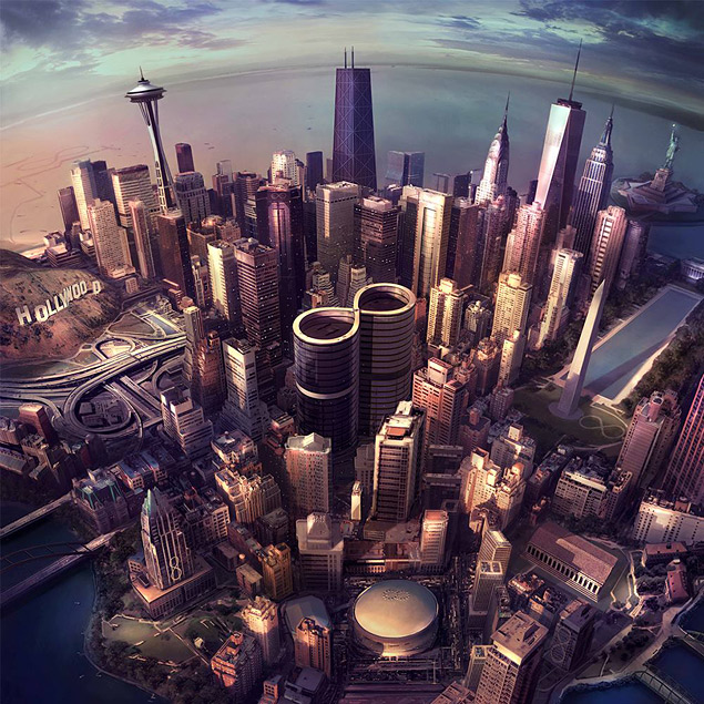 Uma das capas de 'Sonic Highways', novo disco de estúdio do Foo Fighters