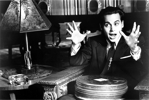 Johnny Depp, em cena do filme 'Ed Wood', de Tim Burton
