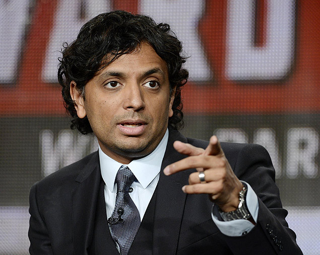 "Executive producer and director M. Night Shyamalan attends a panel for the television series ""Wayward Pines"" during Fox Broadcasting Company's part of the Television Critics Association (TCA) Winter 2015 presentations in Pasadena, California, January 17, 2015. REUTERS/Kevork Djansezian (UNITED STATES - Tags: ENTERTAINMENT) ORG XMIT: KDJ023"