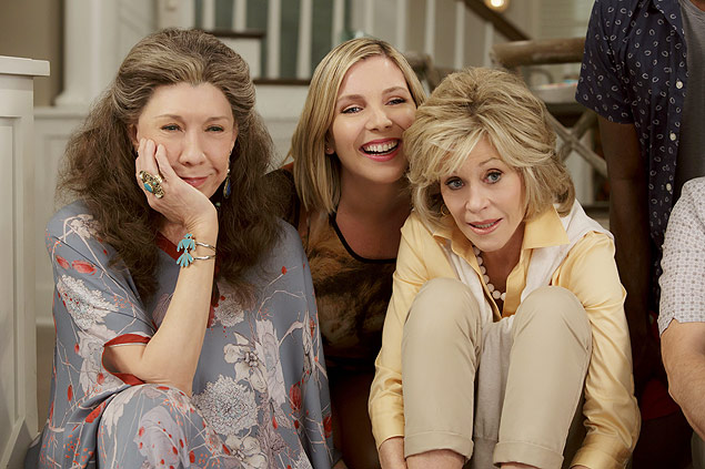 Lily Tomlin, June Diane Raphael and Jane Fonda in the Netflix Original Series