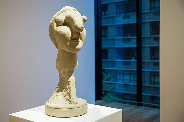 "NEW YORK, NY - SEPTEMBER 10: A sculpture made by Pablo Picasso is displayed at the Museum of Modern Art's (MoMA) ""Picasso Sculpture"" exhibit on September 10, 2015 in New York City. The exhibit includes 141 sculptures made by the artist and will run until February 7, 2016. Andrew Burton/Getty Images/AFP == FOR NEWSPAPERS, INTERNET, TELCOS & TELEVISION USE ONLY =="