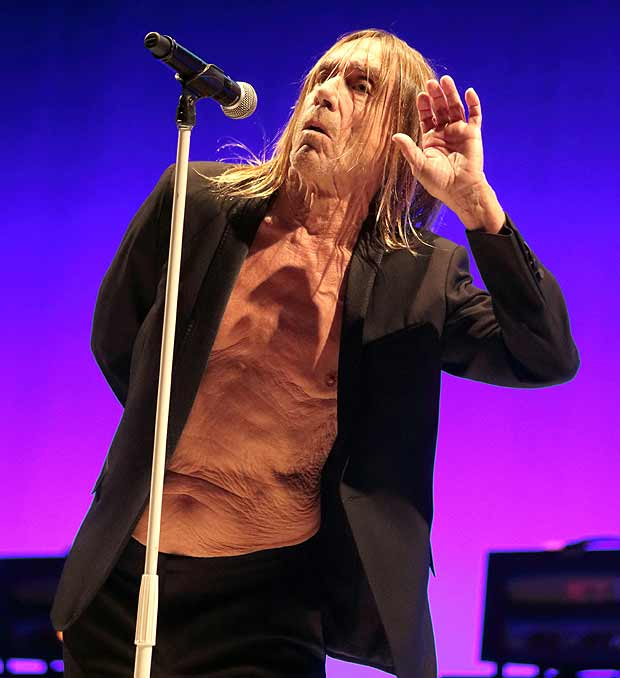 "Iggy Pop em show da turn� ""Post Pop Depression no Academy of Music, na Philadelphia"