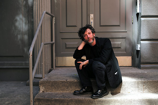 "Neil Gaiman, author of more than 20 books on nightmares, human folly and fairy tales both young and adult, in New York, June 2, 2014. Gaiman will read his novella ""The Truth Is a Cave in the Black Mountains"" with art and musical accompaniment at Carnegie Hall on June 27. (Ozier Muhammad/The New York Times) - XNYT76"