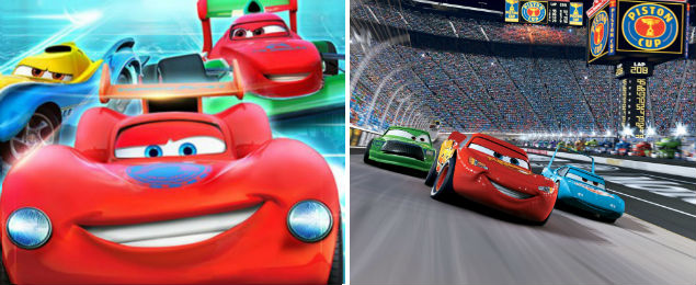 A produ��o chinesa 'The Autobots' (� esq.) e a anima��o 'Carros', da Disney/ Pixar