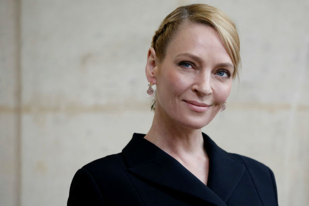 Actress Uma Thurman poses during a photocall before the French fashion house Christian Dior Fall/Winter 2017-2018 women's ready-to-wear collection during Fashion Week in Paris, France March 3, 2017. ORG XMIT: GFM36