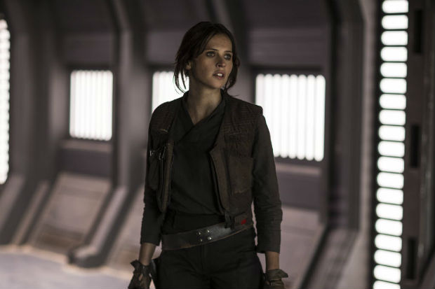 """This image released by Lucasfilm Ltd. shows Felicity Jones as Jyn Erso in a scene from, """"Rogue One: A Star Wars Story."""" (Jonathan Olley/Lucasfilm Ltd. via AP) ORG XMIT: NYET752"""