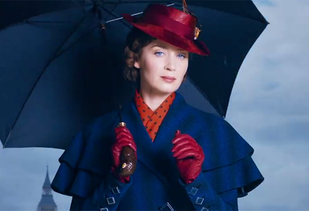 "Emily Blunt é Mary Poppins na sequência do clássico infantil ""Mary Poppins Returns"""